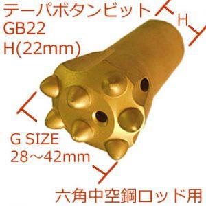 GB22ボタンビットH22mm