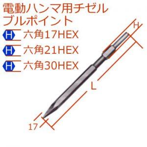 [H]17-21-30mm電動ハンマブルポイント