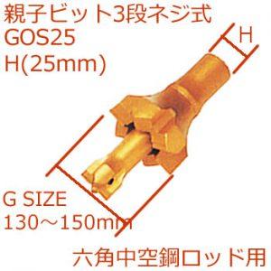 GOS25親子ビット3段ネジ式25mm