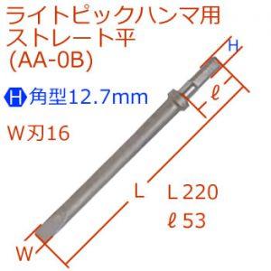 [H]12.7mmライトピック超小型ストレート平